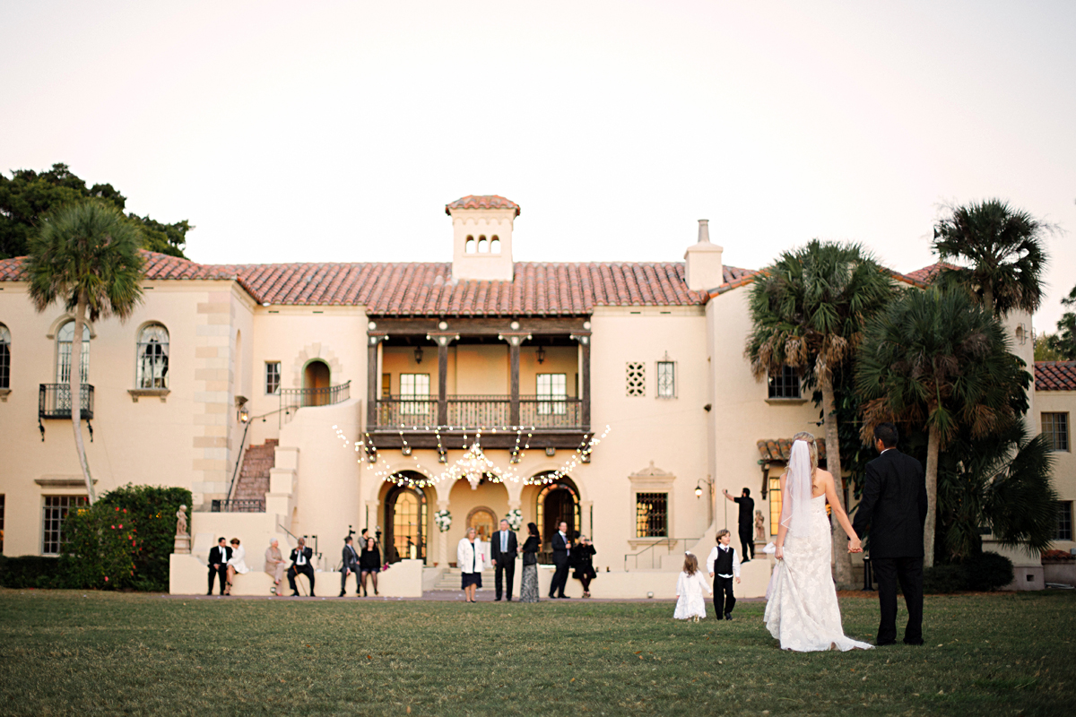Wedding Reception Outside Beautiful Home